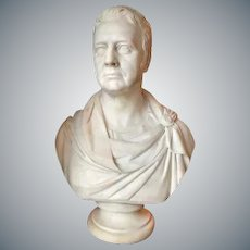 Marble Bust by Thomas Campbell (Scottish 1790-1858)