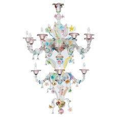Amazing Italian Venetian Ca'rezzonico chandelier in Murano
