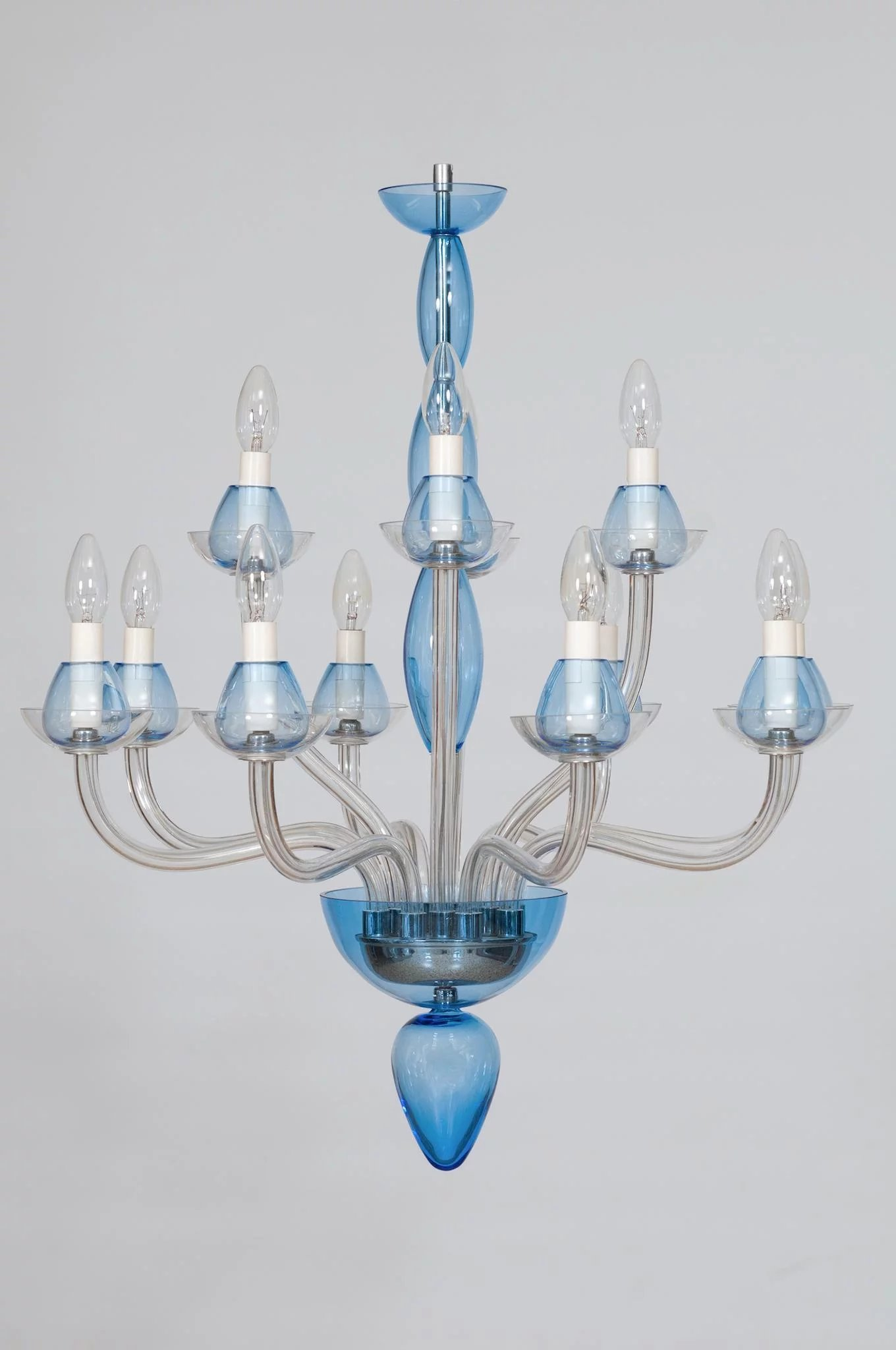 vintage modern italian chandelier in murano glass. Black Bedroom Furniture Sets. Home Design Ideas