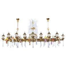 Italian country festival chandelier in Murano Glass, 1950s