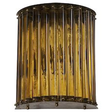 Italian Sconce in Murano Glass amber, 1960s