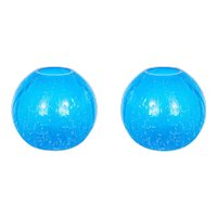 "Italian ""Spheres"" vases in Murano Glass light-blue, Cenedese 1970s"