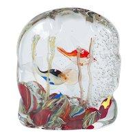 Italian Murano Glass aquarium, Romano Donà 1980s