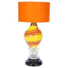 Italian Venetian Table lamp in Murano Glass, 1970s