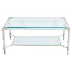 Italian Murano Glass cocktail Table in Murano Glass transparent