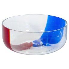 Italian bowl in Murano glass, 1980s