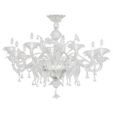 Italian Chandelier in Murano Glass transparent, 1960s