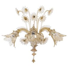 Italian Murano Sconce in the Style of Galliano Ferro, circa 1930s