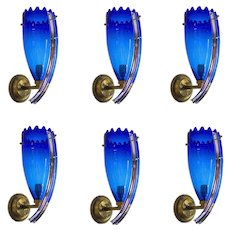 Italian Murano glass Sconces Attributed to Camera Glass