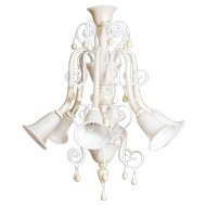 Italian Ivory and Gold Chandelier Attributed to Gianni Seguso, circa 1980s