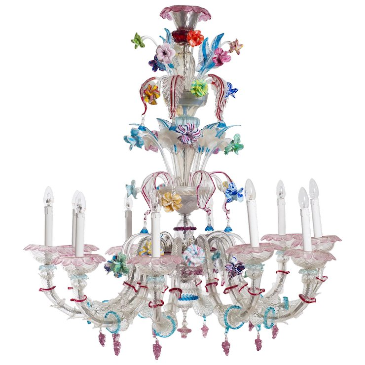 Italian Murano Gl Chandelier Attributed To Galliano Ferro Around 1950s