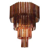 Italian Venetian Murano Glass Chandelier attributed to Venini around 1970s