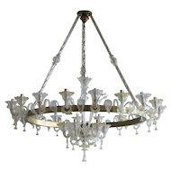 Italian Venetian Murano Glass  Chandelier around 1950s