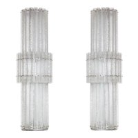 Pair of Italian Murano Glass Floor Lamps, Mazzega around 1970s