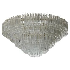 Italian Venetian Murano Glass Chandelier,  Venini around 1970s