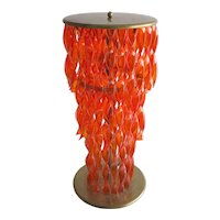 Italian Venetian Murano Glass Floor Lamp in orange, around 1950s