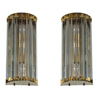 Pair of Italian Murano Glass Sconces, Attributed to Camer Glass around 1960s