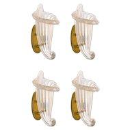 Four Italian Venetian Murano Glass Sconces, 1980s Romano Donà
