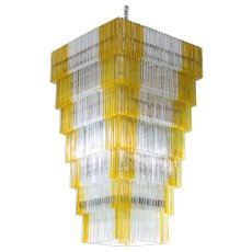 "Italian Venetian ""Waterfall"" Chandelier in Murano Glass, 1960s Venini"