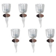 Six Italian Sconces in Murano Glass, Seguso 1950s