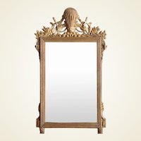 Vintage Italian Giltwood Hot Air Balloon Design Wall Mirror