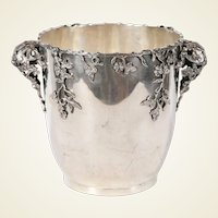 Highly Decorative Italian Silver Wine Cooler / Centerpiece