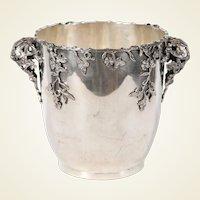 Highly Decorative Italian Silver Wine Cooler / Centerpiece