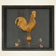 Monumental Double-Sided Rooster Weathervane Hanging Decorative Art