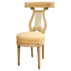 "Lyre Back ""Voyeuse"" Chair in the Manner of Georges Jacob"