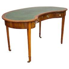 George III Hepplewhite Style Kidney-Shaped Writing Table