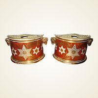 Pair of Early 19th Century Derby Porcelain Bough Pots