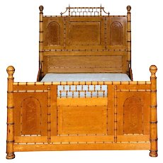 Aesthetic Movement Faux Bamboo Full Bed by R.J. Horner & Co