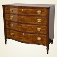 American Federal Flame Mahogany Chest of Drawers