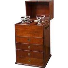 Victorian Period Mahogany Dry Bar with Humidor and Gaming Compartments