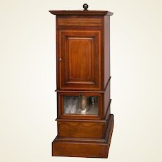 1930s Mahogany Dry Bar, Complete with Humidor and Game Compendium