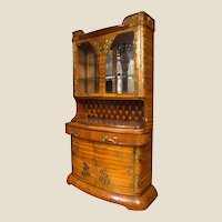 An Art Nouveau Louis Majorelle Brass Mounted Fruitwood Cabinet