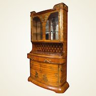 An Art Nouveau Louis Majorelle Brass Mounted Fruitwood Cabinet