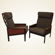 "Pair of High Back ""Capella"" Lounge Chairs by Illum Wikkelsø"