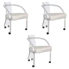 A Group of 3 Lucite Arm Chairs, Wycombe-Meyer, circa 1975