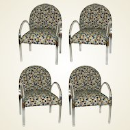 Set of Four Lucite Armchairs in the Manner of Charles Hollis Jones