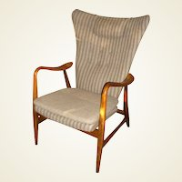 1960's Danish Modern Wingback Armchair by Bovenkamp