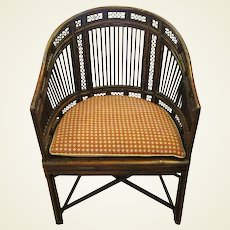 "Early 19th Century ""Brighton Pavilion"" Style Bamboo Armchair"