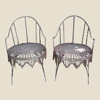 Hand-Forged Iron Chain Tassel Design Armchairs