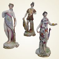 Group of Three Late 19th Century Samson of Paris Porcelain Figures
