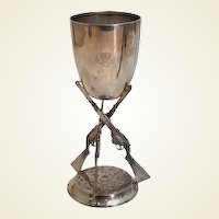 English Sterling Trophy Chalice of the Monkton Combe School, 1912