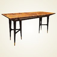 Mid-Century Macassar Ebony Writing Desk in the Manner of Gio Ponti