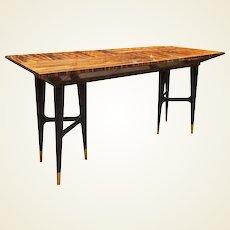 Mid-Century Macassar Ebony Writing Desk in the Manner of Gio Ponti