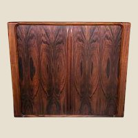 Danish Modern Rosewood Tambour Door Cabinet of Drawers by Dyrlund