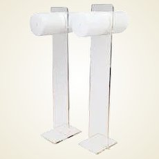 Marvelous Mod Lucite Floor Lamps in the Manner of Neal Small