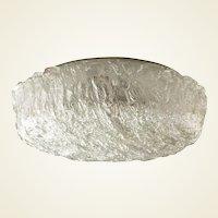"""An """"Ice"""" Glass Flushmount Light by Kaiser Leuchten"""